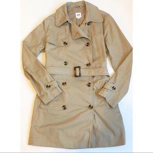 Gap Lightweight Tan Trench Coat -Size Medium